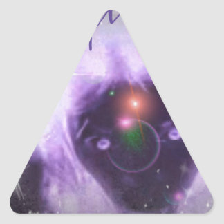 Out Of This World Purple Aura Triangle Sticker
