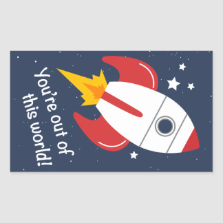 Out of This World Rocket Stickers