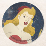 Out of this World Round Paper Coaster