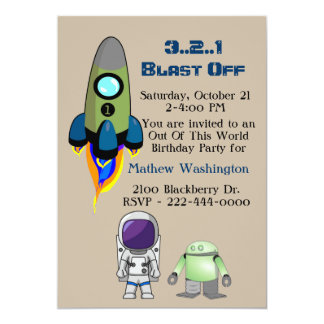 Out Of This World Space Birthday Party Invitation