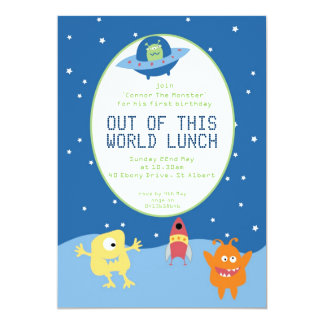 Out of this World Space Invitation