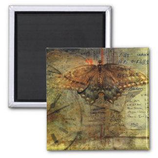 """""""Out of Time"""" Grungy Shopping List Collage Refrigerator Magnets"""