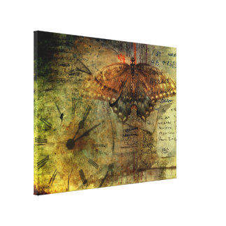 """""""Out of Time"""" Shopping List Collage Wrapped Canvas Stretched Canvas Print"""