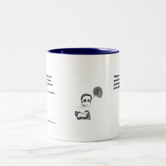 Out-of-Touch Mitt Two-Tone Coffee Mug