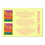 'Out Of Town Guest DIRECTIONS' Card (small rec) Custom Invitations