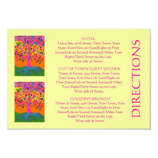 """'Out Of Town Guest DIRECTIONS' Card (small rec) 3.5"""" X 5"""" Invitation Card"""