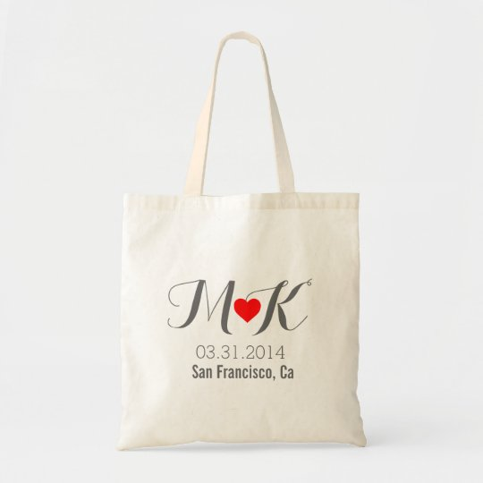 Out of town OOT wedding guests bag | Zazzle.com