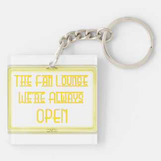 Out of Towner Lounger Keychain - Yellow/black