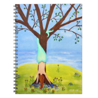 """""""Out Of Water"""" Mermaid Art Spiral Note Book"""