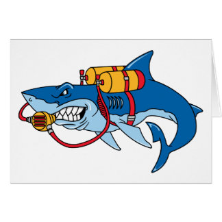 Out Of Water Shark Greeting Card