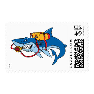 Out Of Water Shark Postage