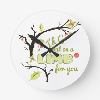 Out On Limb Round Clock