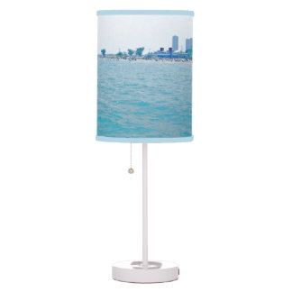 Out on the Lake Bluish-Green hues Table Lamp