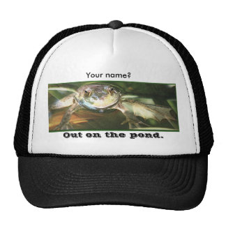 Out on the pond. trucker hats