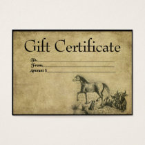 Out On The Range- Prim Gift Certificate Cards