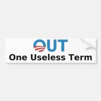 Out - One Useless Term Bumper Sticker