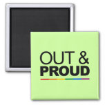 OUT & PROUD 2 INCH SQUARE MAGNET