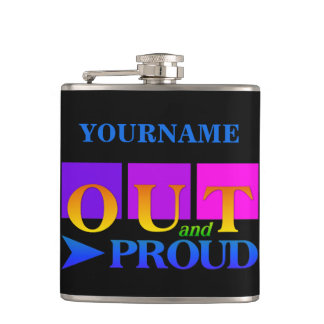 OUT & PROUD custom flask