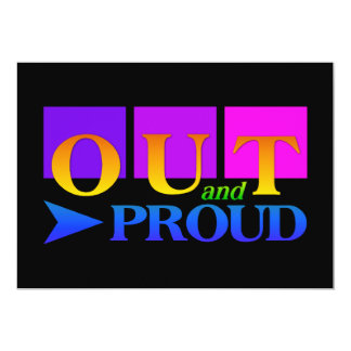 OUT & PROUD invitation, customize Card