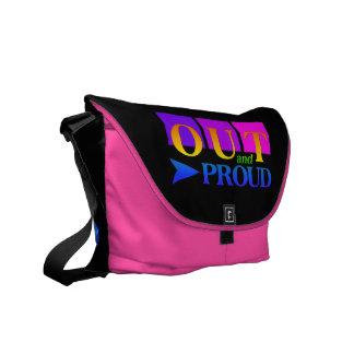 OUT & PROUD messenger bag