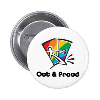 Out & Proud Pinback Button