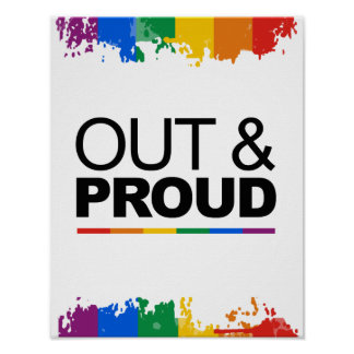 OUT & PROUD POSTER