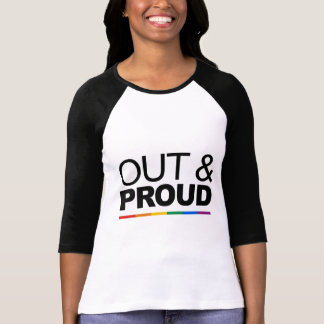 OUT & PROUD TEE SHIRT