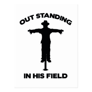Out Standing In His Field Postcard