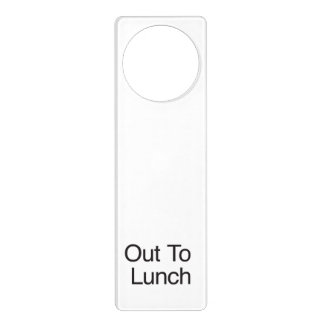Out To Lunch Door Hanger