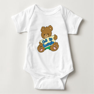 Out to Lunch Teddy Bear Baby Bodysuit