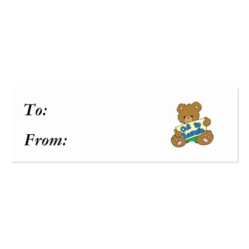 Out to Lunch Teddy Bear Mini Business Card