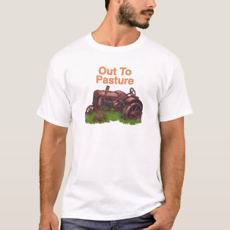 Out To Pasture Tractor Farmer mens basic t-shirt