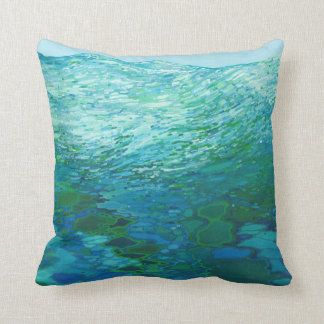 Out To Sea Ocean Waves Pillow by Juul