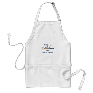 OUT TO THE BALLGAME ADULT APRON