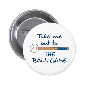 OUT TO THE BALLGAME 2 INCH ROUND BUTTON