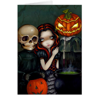 """""""Out Trick-or-Treating"""" Greeting Card"""