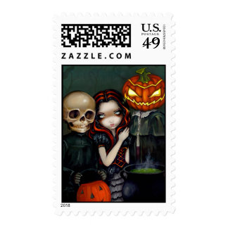 """""""Out Trick-or-Treating"""" Stamp"""