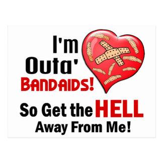 Outa BandAids Tarjetas Postales
