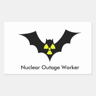 Outage Worker Rectangular Sticker