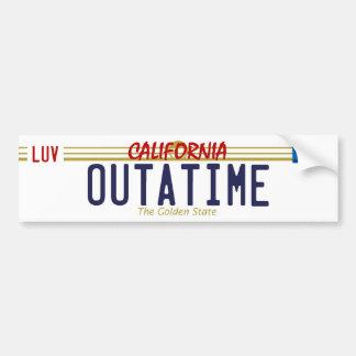 OUTATIME License Plate Bumper Sticker Car Bumper Sticker