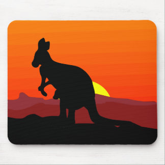 Outback Australian Kangaroo at Sunset Mouse Pad