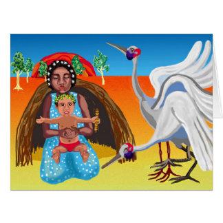 Outback Australian Nativity Card