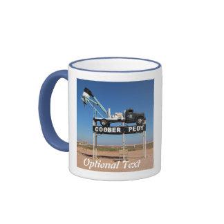 Outback Coober Pedy Customized Souvenir Ringer Coffee Mug