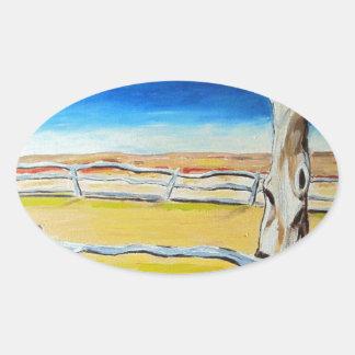Outback Gumtree Oval Sticker