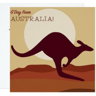 Outback kangaroo card
