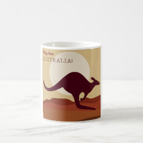 Outback kangaroo coffee mug