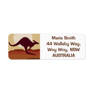 Outback kangaroo label