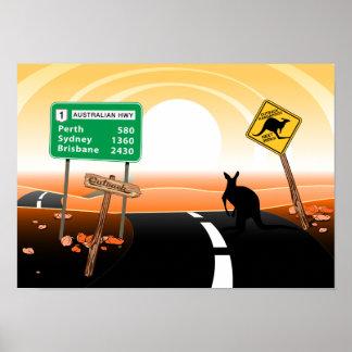 Outback kangaroo poster