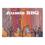 "Outback Kangaroos  Aussie BBQ Invitations 5"" X 7"" Invitation Card"