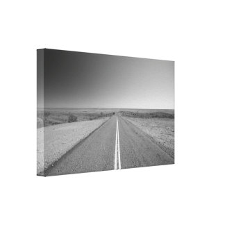 Outback Road, Australia - Black and White - Canvas